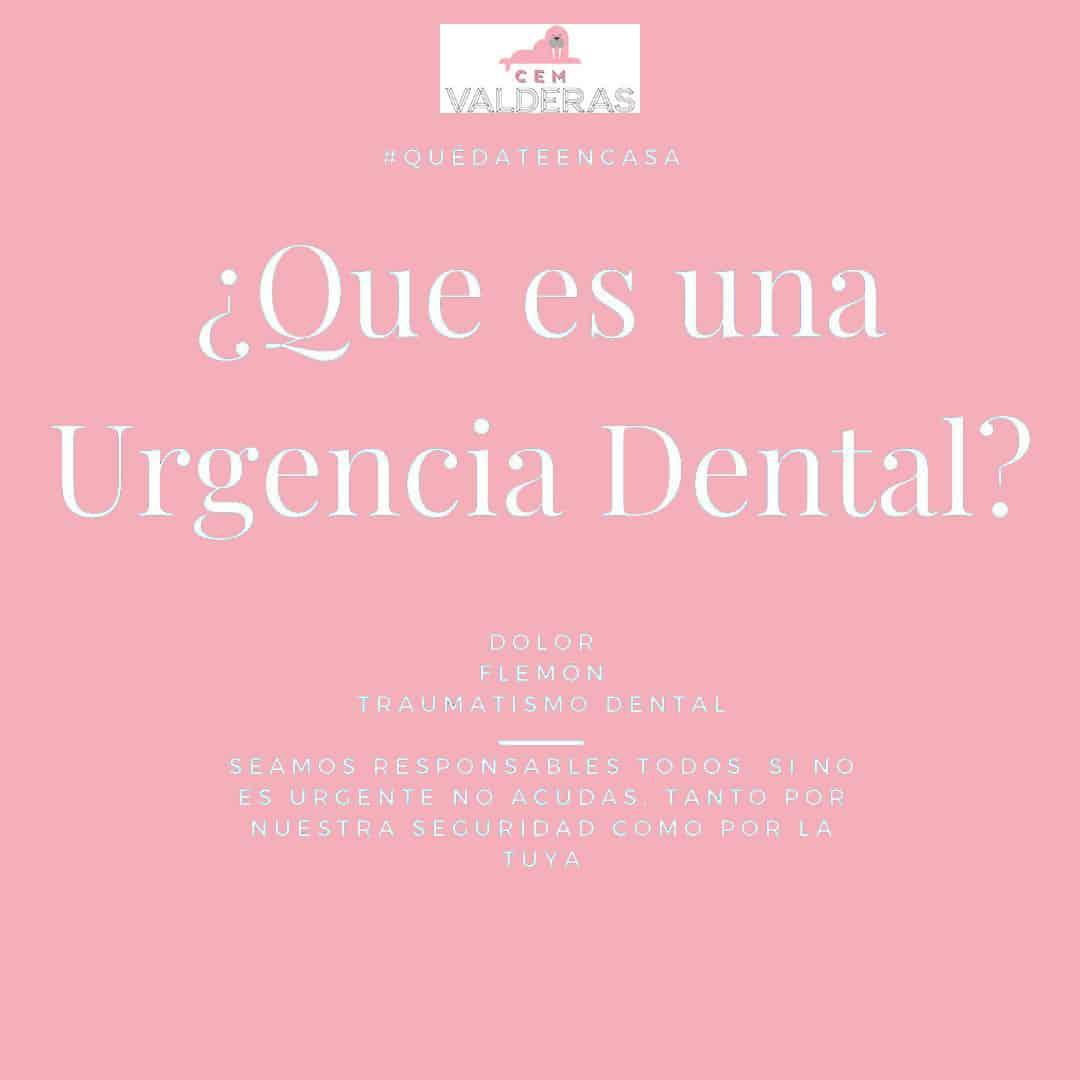 ¿Que es una urgencia Dental?. CEM Valderas Clínica Dental Alcorcón